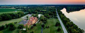 Nazareth Hall Wedding Venue aerial view
